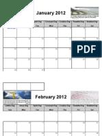 2012 Christian Calendar