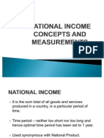 National Income Concepts and Measurements
