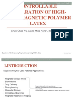 Controllable Preparation of High-yield Magnetic Polymer Latex