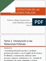 Tema 1. Teoría y Estructura de las Relaciones Públicas