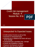 8 to 12 Credit Risk Management