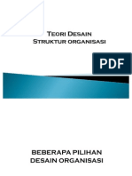Teori Desain Struktur Organisasi