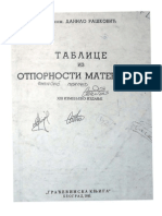 Tablice Iz Otpornosti Materijala Danilo Raskovic
