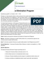 Department of Health - National Filariasis Elimination Program - 2011-12-19