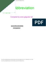 List of Abbreviation ( India )