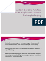 Minimally Invasive Surgery, Robotics, And Natural