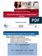 Etude Shopper ECR 2010 Report Et Subsitution vs Ruptures Mode de lit