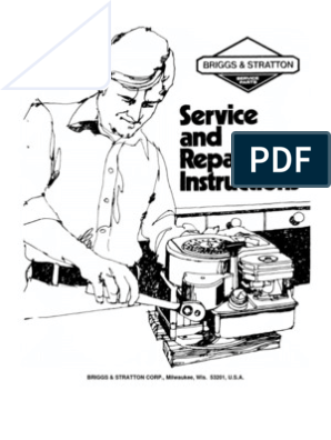 Briggs Stratton Service Manual 70076881 | Internal Combustion Engine