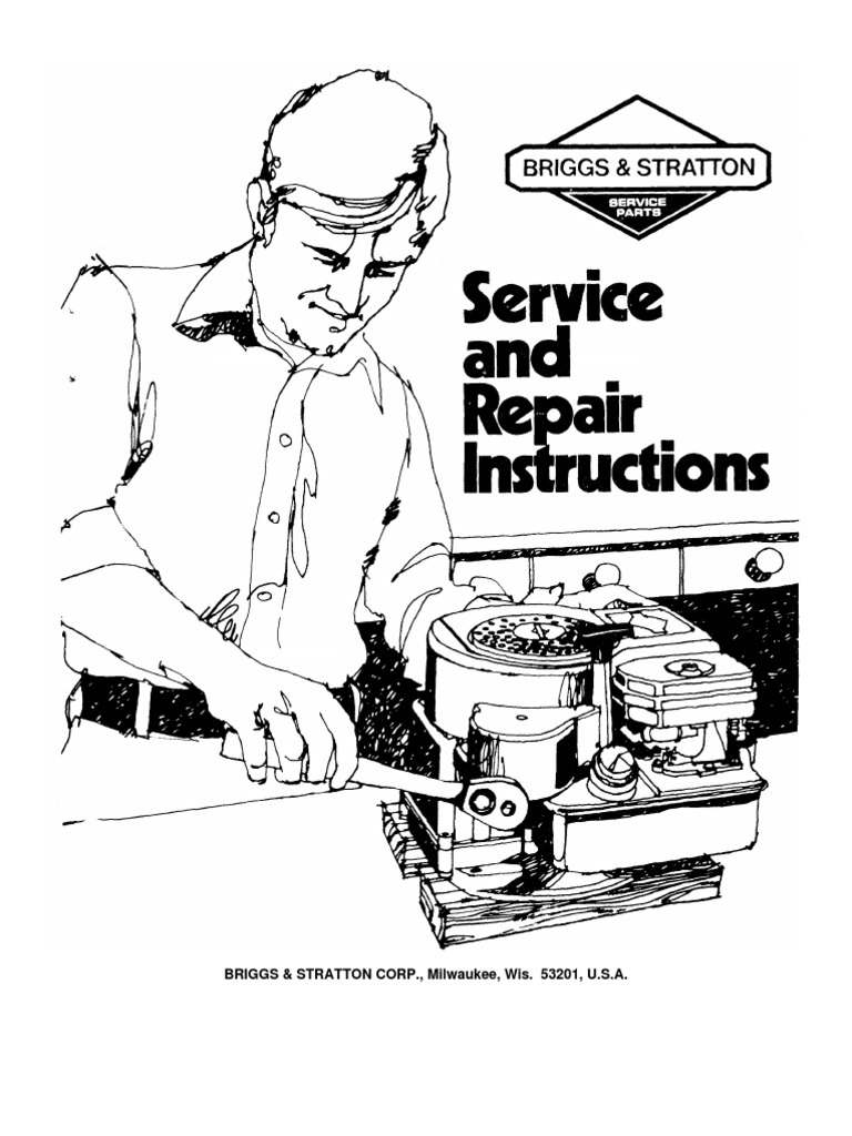 Briggs Stratton Service Manual 70076881   Internal Combustion Engine    Carburetor