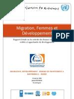Rapport Migration Femmes et Développement