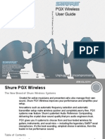 Shure PGX Wireless Mic Eng