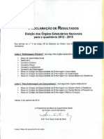 Proclamação dos Resultados