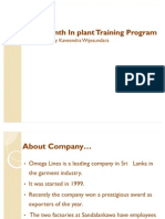 Six Month in Plant Training Programme 1