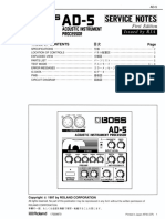 Boss AD-5 Service Notes
