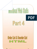 Part 4 List Pada HTML