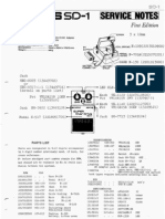 Boss SD-1 Service Notes