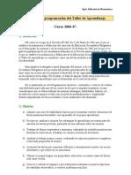 Desarrollo y Programacion de Taller de Aprendisaje