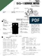 Boss SG-1 Service Notes