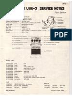 Boss VB-2 Service Notes