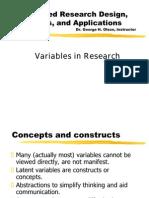 Defining Variables PPT