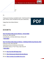 New York Silicon Alley Weekly Newsletter 30-December-2011