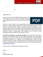 New York Silicon Alley Weekly Newsletter 06-January-2012
