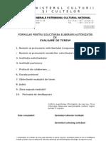 Formular CerereAutorizatie Evaluare SA EV4 2008-01-17