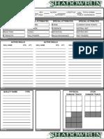Shadowrun Sheet