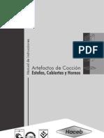 MANUAL DE INSTRUCCIONES PARA ARTEFACTOS DE COCCIÓN
