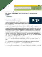 Legislação Resolução - RDC nº 12 Padrões microbiologicos