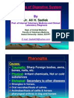 Diseases of Pahyrinx and Esophagus in Farm Animals by Ali Sadiek