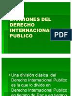 Divisiones Del Derecho Internacional Publico