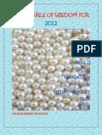 Ten Pearls of Wisdom for 2012