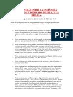 DIFERENCIAS ENTRE LA ENSEÑANZA ARMINIANA Y DERIVADA DE ELLA - Miguel Rossel