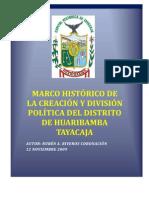 Ley de Creacion Politica de Huaribamba