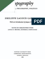 Typography Mimesis Philosophy Politics