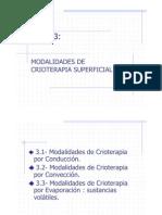 Tema 3. Modal Ida Des de Crioterapia Superficial