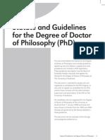Phd Statute Guidelines