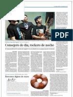 Consejero de día, rockero de noche. El Mundo, 3 de enero de 2012