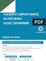 Les bénéfices du pro bono pour l'entreprise - Pro Bono Lab - 29 09 2011