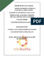 Bitacora de Instalación Ubuntu Patricia rodriguez y Luis Benavides