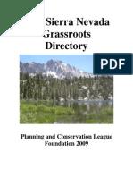 Sierra Nevada Grassroots Directory