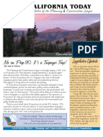 September 2006 California Today, PLanning and Conservation League Newsletter