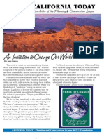 December 2007 California Today, PLanning and Conservation League Newsletter