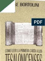 Bortolini Jose - Como Leer La Carta 1 a Los Tesalonicenses