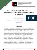 De La cia Tecnologica a La Convergencia Educativa