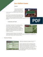 Case Studies of Online Games