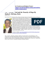 """The """"Tenting"""" God and the Tenacity of Hope By Sheila E. McGinn, Ph.D."""