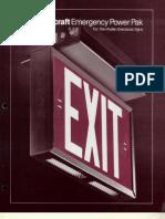 Light Craft Emergency Exits EX80 1979