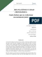 EDAD CRONOLÓGICA Y GRAN TRES PLATÓNICO